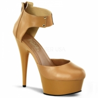 Delight677 Tan High-Heels