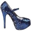 Bordello Teeze07 Blue Silver